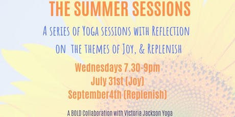 Replenish Yoga a BOLD collaboration with Victoria Jackson Yoga tickets