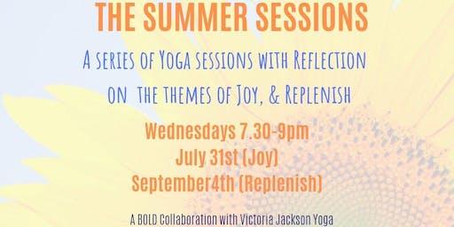 Replenish Yoga a BOLD collaboration with Victoria Jackson Yoga