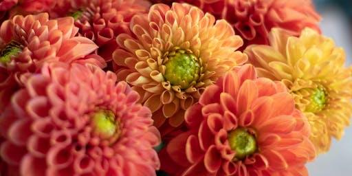 Atelier bouquet de Dahlia