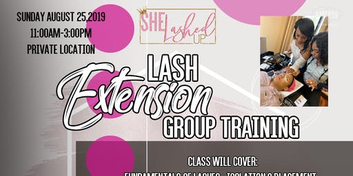 SheLashedUp Group Lash Extension Training