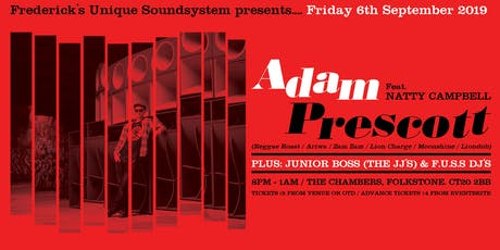 Adam Prescott & Natty Campbell (Reggae Roast) with Junior Boss & F.U.S.S. tickets