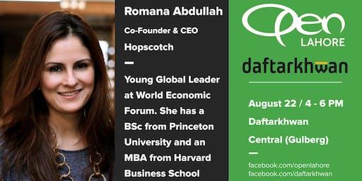 OPEN w/ Romana Abdullah (CEO @ Hopscotch)