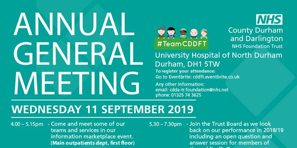 CDDFT Annual General Meeting 2019 Tickets, Wed 11 Sep 2019 at 17:30