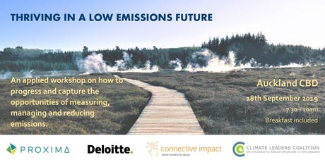 THRIVING IN A LOW EMISSIONS FUTURE: early steps and accelerating progress tickets