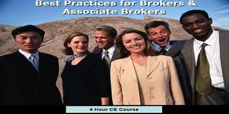 """Best Practice for Brokers & Associate Brokers 2019"" 4 Hour CE - Lunch  McDonough tickets"