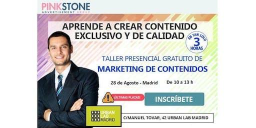 Taller Gratuito Presencial de Marketing de contenidos para Empresas