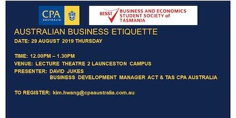 CPA Business Etiquette Workshop 2019  UTAS Launceston tickets