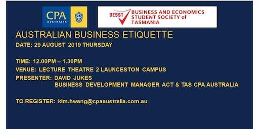 CPA Business Etiquette Workshop 2019  UTAS Launceston