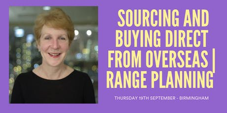 JENNY SPIVEY - SOURCING AND BUYING DIRECT FROM OVERSEAS  tickets