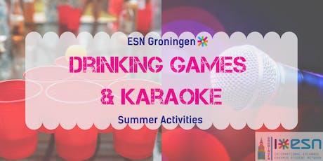 Summer activities: drinking games + karaoke tickets
