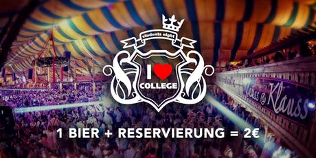 I Love College goes Wasen - So. 29.09. - Klauss & Klauss Tickets