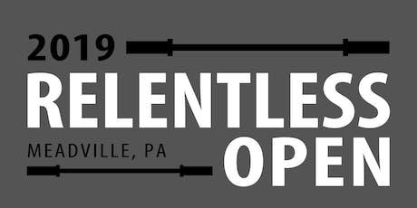 Relentless Open 2019 tickets