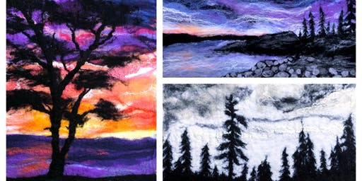 Felted Tree Landscape Workshop, October 26, 2019