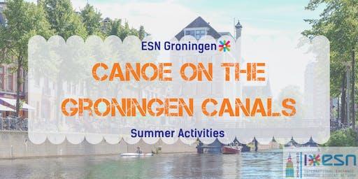 Summer activities: canoe on the Groningen canals
