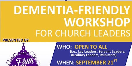 Dementia-Friendly Workshop for Church Leaders tickets
