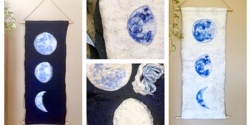 Felted Moon Wall Hanging Workshop, October 06, 2019