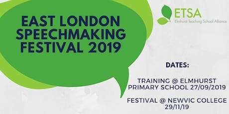 East London Speechmaking Festival 2019 tickets