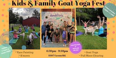 Kids & Family Goat Yoga Festival