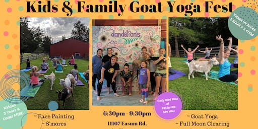 Kids & Family Goat Yoga Festival
