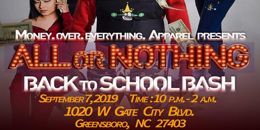 All or Nothing Back To School Bash