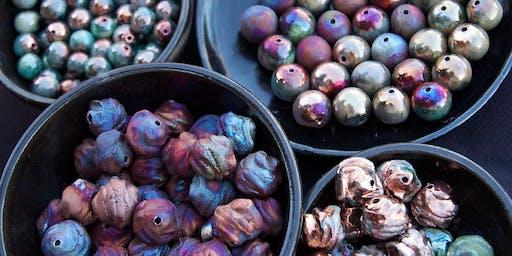 Raku Beads & Pendants by XAZ Trunk Show