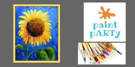 Paint'N'Sip Canvas - Sunflower - $35pp