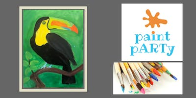 All Ages Paint Party on Canvas - Toucan - $25pp