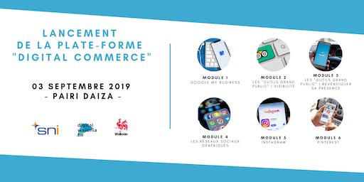 "Lancement  de la plate-forme ""e-learning"" Digital Commerce"