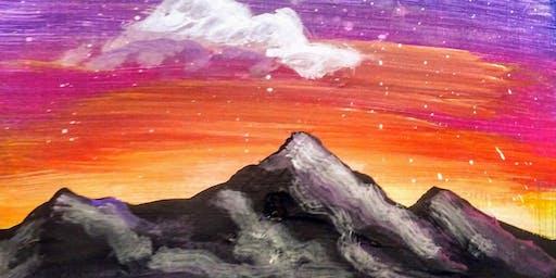 Mountain Scene Sip 'N Paint