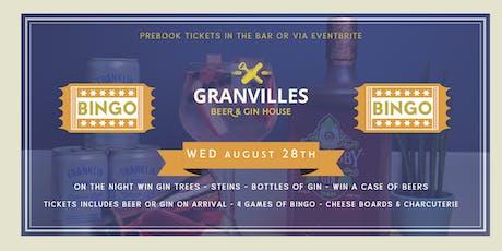 GRANVILLES - MONTHLY - BINGO! tickets