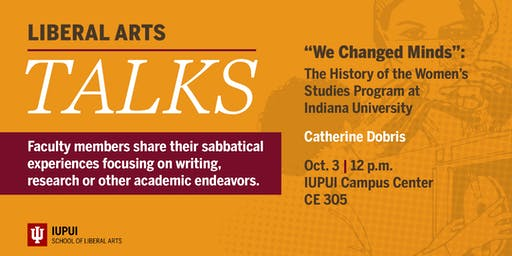 Liberal Arts Talks: We Changed Minds by Catherine Dobris