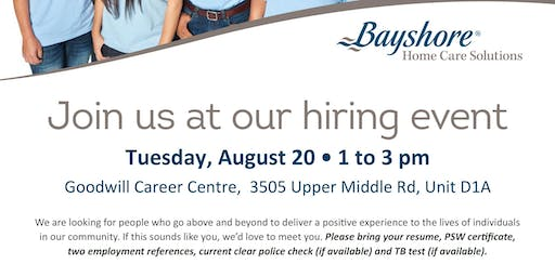 August 20th -2019 Hiring Event - Bay Shore