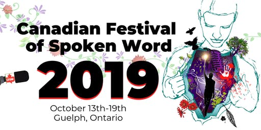 FESTIVAL PASS: Canadian Festival of Spoken Word 2019