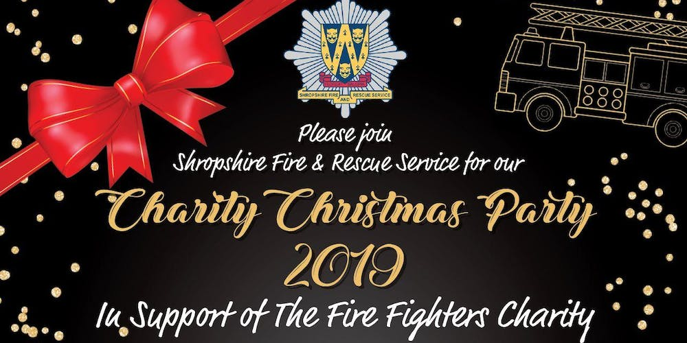 Christmas Party 2019 Logo.Shropshire Frs Charity Christmas Party 2019