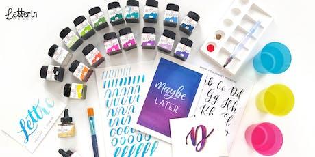 Atelier Calligraphie Moderne à l'Aquarelle - PARIS 28 SEPT 2019 billets