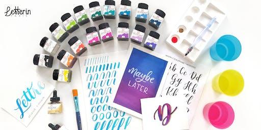 Atelier Calligraphie Moderne à l'Aquarelle - PARIS 28 SEPT 2019