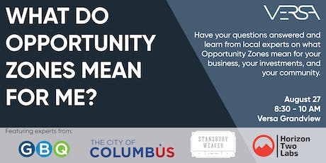 What do Opportunity Zones mean for my business? tickets