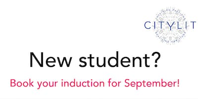 New student induction (Tuesday 17th Sept)