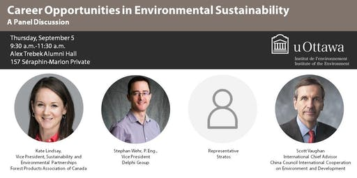 Career Opportunities in Environmental Sustainability - A Panel Discussion
