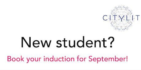 New student induction (Thursday 19th Sept) tickets