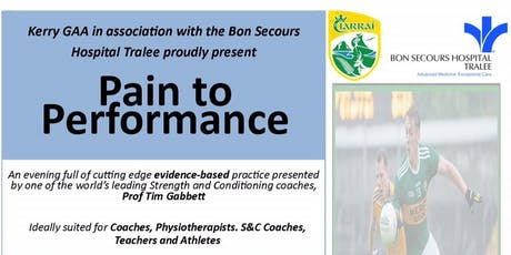 Kerry GAA & Bon Secours Hospital - Pain to Performance Workshop 2019 tickets