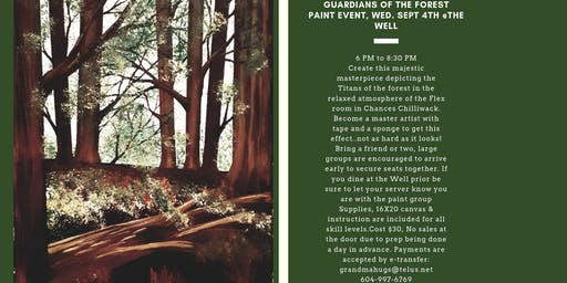 Guardians of the Forest Paint Event