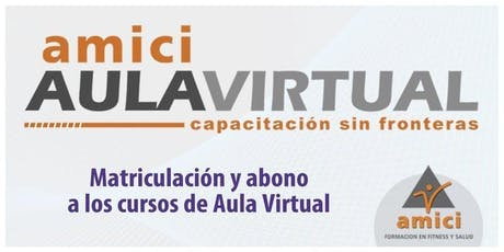 Instructorado Personal Trainer AULA VIRTUAL entradas