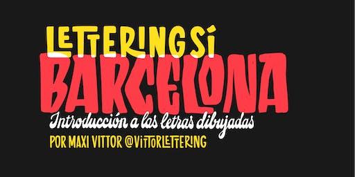 Lettering sí Barcelona