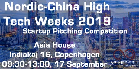 Nordic-China  High Tech Week 2019: Startup pitching competition tickets