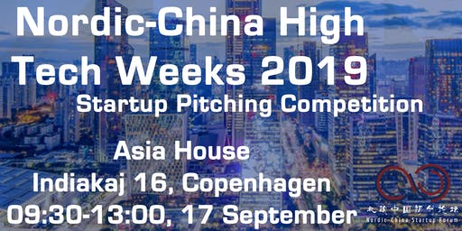 Nordic-China  High Tech Week 2019: Startup pitching competition