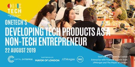 OneTech's 'developing tech products for non-tech entrepreneurs' (for 18-24 year olds) tickets