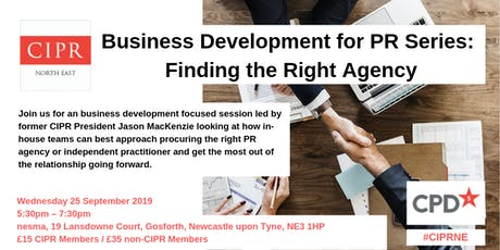 Finding the Right Agency: Business Development for PR series tickets