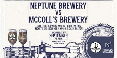 Neptune vs McColl's Tasting & Meet the Brewers tickets