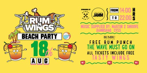 Rum & Wings All Day Party! HipHop Music & Good Times!